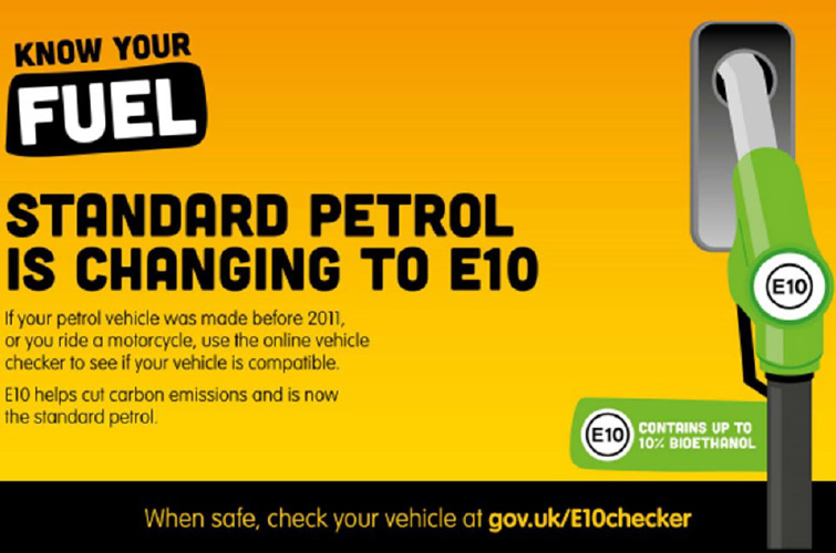 The new E10 petrol